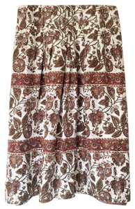 Banana Republic Silk Floral Skirt floral silk