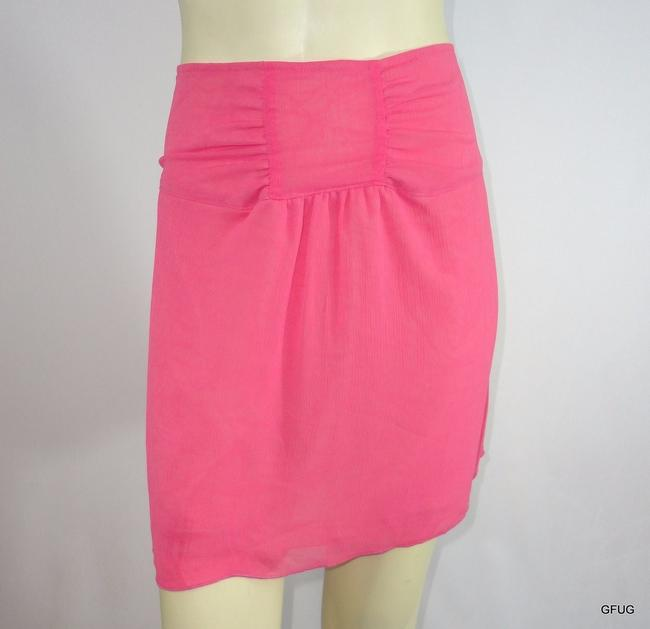 Item - Urban Outfitters Pink Crepe Mini Skirt Gathered Waist