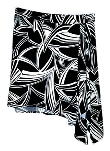 Banana Republic Mini Skirt Black & White Print