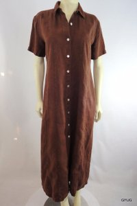 Other short dress Brown Match Linen Paneled Shirtmakers Short Sleeves on Tradesy