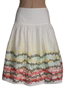 J. Jill Summer Printed Boho Flared Fresh Multicolor Skirt