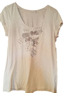 Caslon Embellished Flowered T Shirt cream