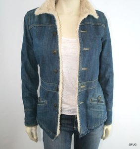 Earl Jean Ps Faux Sherpa Lined Denim Jean Boyfriend Womens Jean Jacket