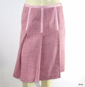 INC International Concepts Pleated Tweed Skirt Pink