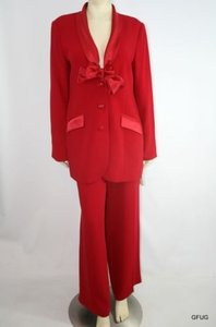 Sutton Studio Sutton Studio Bloomingdales 1214 Red Holiday Occasion Blazer Pant Suit Set