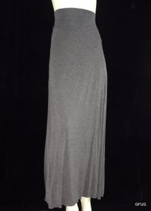 Max Studio Edition Rayon Jersey Maxi Skirt Gray