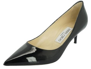 Jimmy Choo Kitten Heel Mid Heel Formal Dress Pointed Toe 35.5 Black Pumps