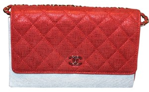 Chanel Quilted Chain Flap Leather Cross Body Bag