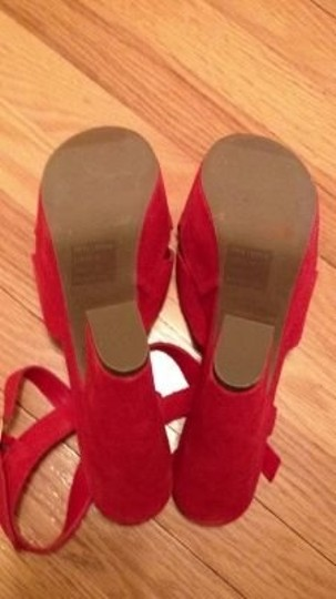 Urban Outfitters Red Platforms