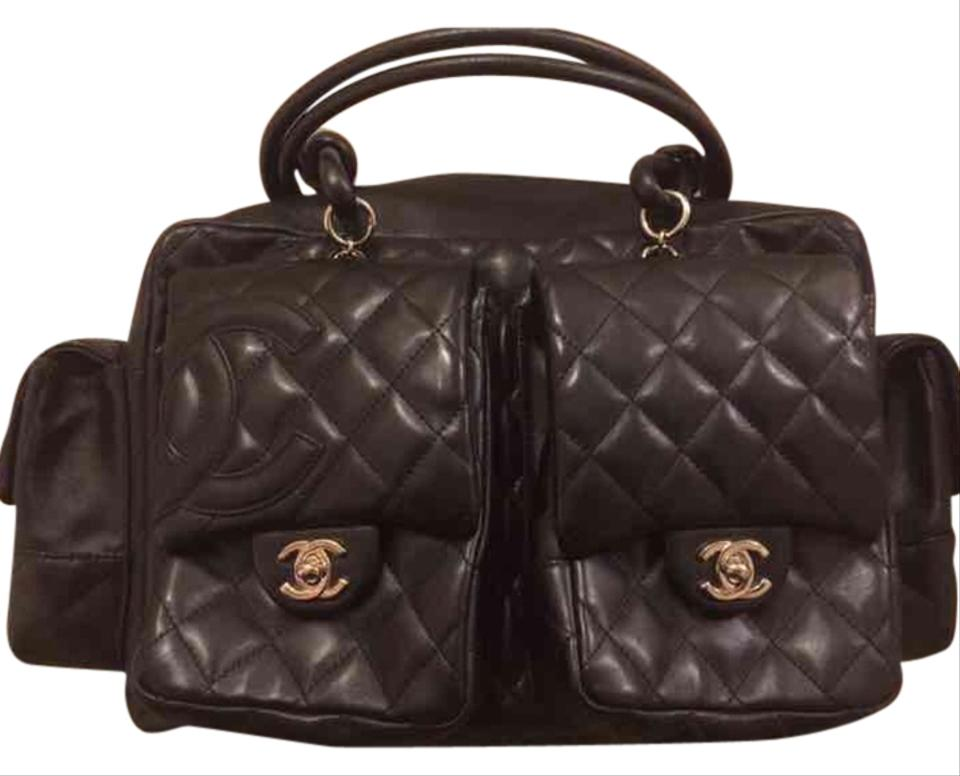 Chanel Large Cambon Multipocket Reporter Quilted Lambskin Black ...