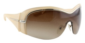 Prada * Prada Tan Aviator Shield Sunglasses SPR06H