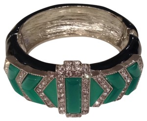 Kenneth Jay Lane Kenneth Jay Lane Deco Jade Bracelet