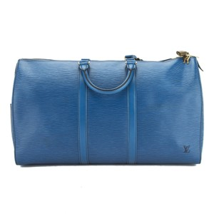 Louis Vuitton Epi Blue Travel Bag