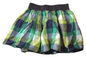 A'GACI Summer Flirty Spring Plaid Mini/Short Shorts Green
