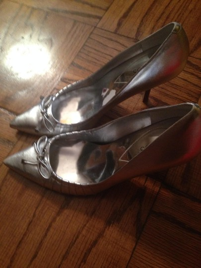 Guess By Marciano Silver Pumps