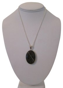 Other ARTISAN NATURAL CAPPUCCINO JASPER GEMSTONE AND 18K WHITE GOLD PLATED NECKLACE