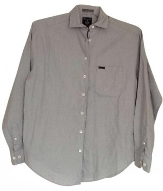 Preload https://item3.tradesy.com/images/faconnable-light-blue-with-blue-and-brown-stripes-button-down-top-size-4-s-142267-0-0.jpg?width=400&height=650