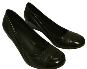 Cole Haan Wedge Leather Patent Leather Black Wedges