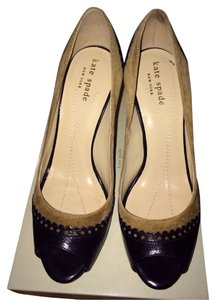 Kate Spade Black And Caramel Platforms