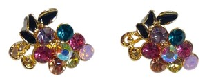 Other 14K Gold Filled Colorful Cubic Zirconia Grape Stud Earrings J2320