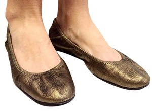 Lanvin Leather Bronze Flats