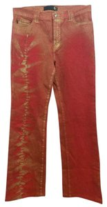 Just Cavalli Red Jeans Straight Pants