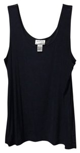 Chico's Shell Scoop Neck Top Midnight