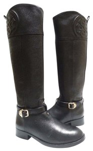 Tory Burch Pebbled Leather Black Boots