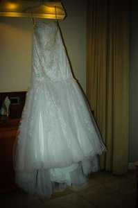 Oleg Cassini Beaded Layered Lace Fit And Flare Gown Style