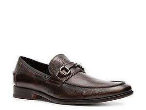 Kenneth Cole Big Business Mens Brown Leather Slip On Loafers Dress Shoes