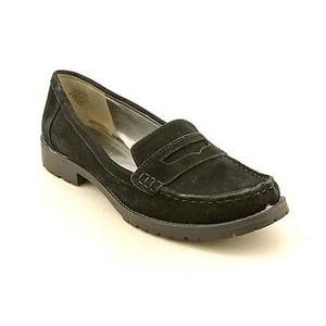 AK Anne Klein Leonidas Womens Suede Leather Loafers Black Flats