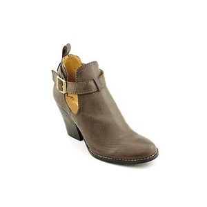MIA Clairre Womens Stone Faux Leather Brown Boots