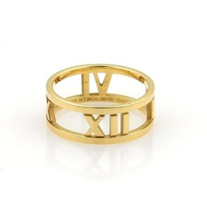 Tiffany & Co. Tiffany Co. Atlas Open Roman Numeral 18k Yellow Gold Band Ring