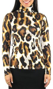 Animal Print Leopard Top Multicolor