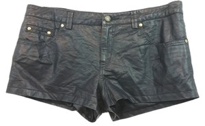 Free People Faux Leahter Mini/Short Shorts