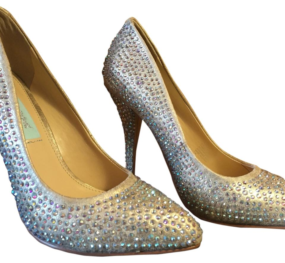 women Betsey Johnson Champagne/Nude of Shine Pumps a wide range of Champagne/Nude products fa6242
