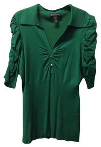 INC International Concepts Sweater Henley Top Green