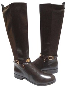 MICHAEL Michael Kors Stretch Back Leather Brown/black Boots