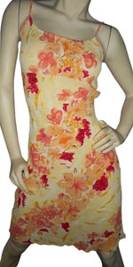 Charlotte Russe short dress yellow, gold, brown, orange floral on Tradesy