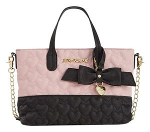 Betsey Johnson Cross Body Tote in blush