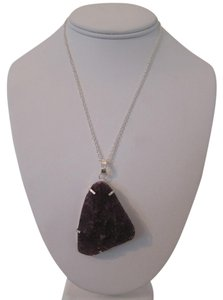 Other ARTISAN 38 GRAM AMETHYST DRUZY PENDANT WITH 925 STERLING SILVER OVERLAY NECKLACE