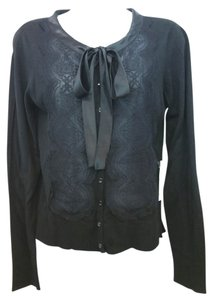 Etcetera Black Knit Cardigan Top