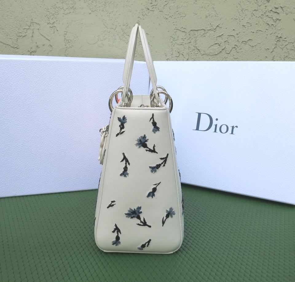 Lambskin Limited Dior Lady with Color 2015 Dior Embroidery Calfskin Tote Multi qT7HFwF61