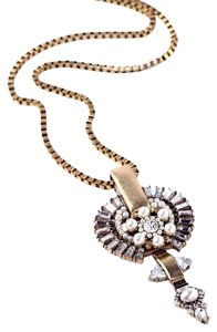 Pearl Crystal Point Pendant Necklace