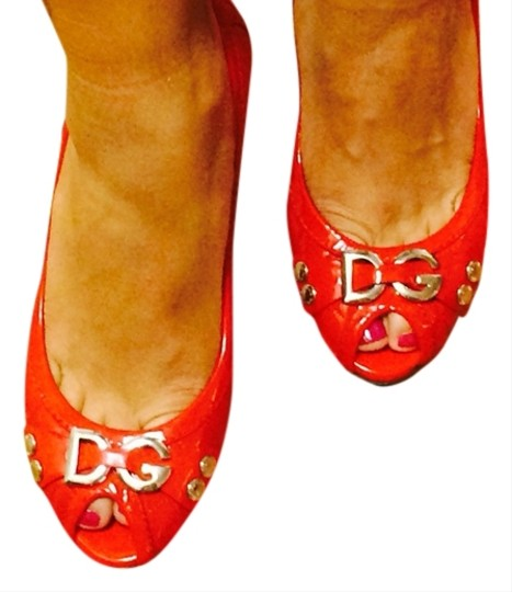 Dolce&Gabbana Hot Timeless Patent Leather Sexy Peep Toe Quilted Red Pumps