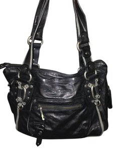 Juicy Couture Black Leather Shoulder Bag 91