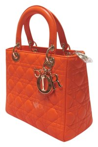 Dior Lady Tote in Orange