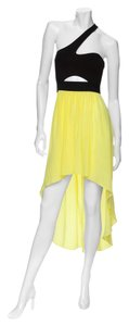 Mason Hi Lo Color-blocking Silk One Cut-out Dress