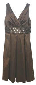 Night Way Collections Cocktail Brown Dress