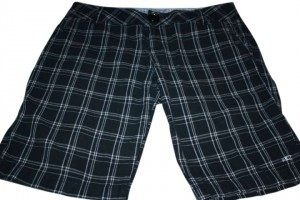 O'Neill Board Shorts black and cream plaid